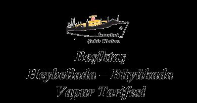 Beşiktaş–Heybeliada–Büyükada vapur tarifesi