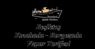 Beşiktaş-Kınalıada-Burgazada tarifesi