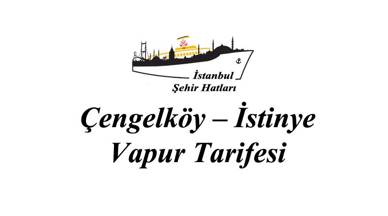 Çengelköy - İstinye vapur tarifesi