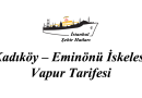 Kadıköy – Eminönü vapur tarifesi