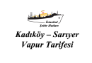 Kadıköy-Sarıyer İskelesi Vapur Tarifesi