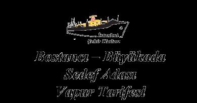Bostancı - Büyükada - Sedef Adası vapur tarifesi