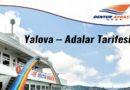 Dentur Yalova – Adalar Tarifesi